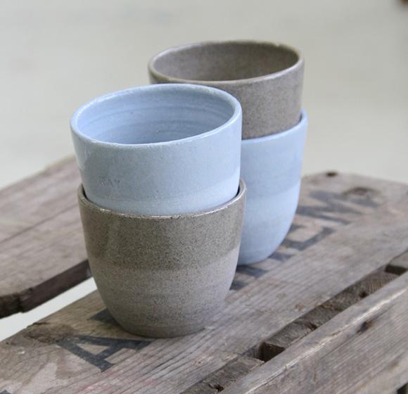 HNNA keramiek kopjes steengoed